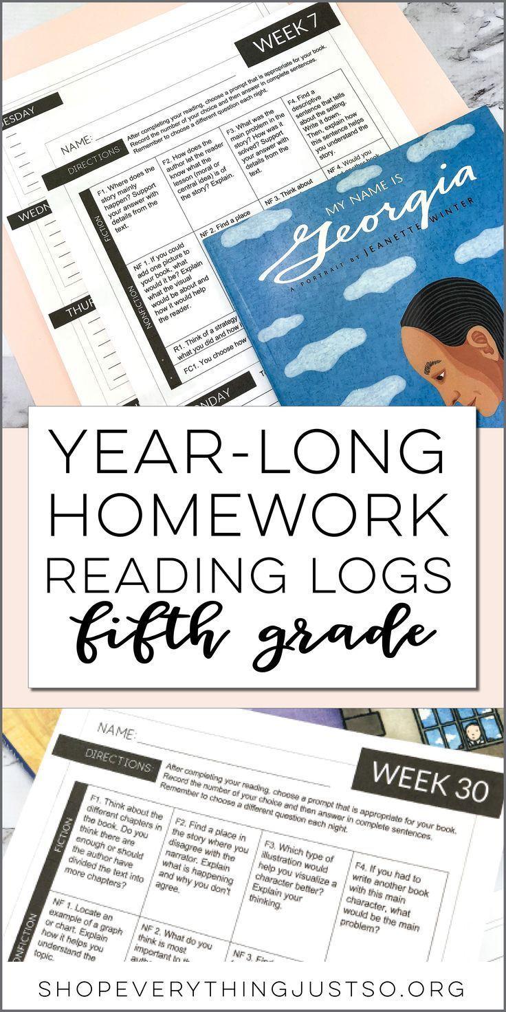 Homework Reading Log YEAR LONG Comprehension