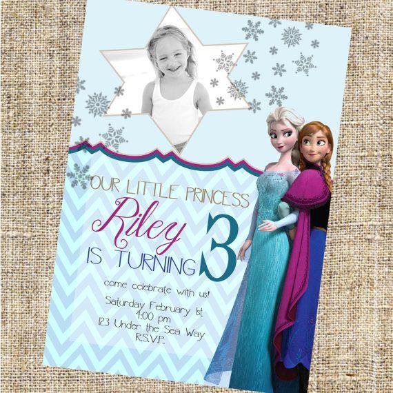 Frozen Invitations Anna And Elsa Invitations By Merrimentpress Frozen Birthday Invitations Birthday Invitations Kids Frozen Birthday Party Invites