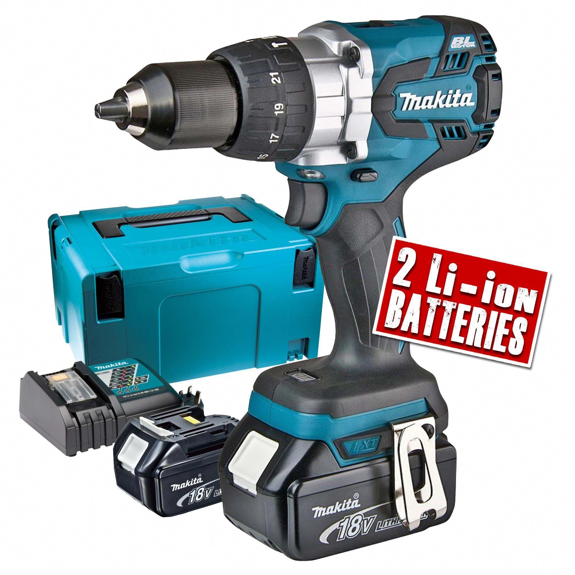 Makita Dhp481rtj Makita 18v Li Ion Brushless Hammer Drill Driver Drilldrivercombo Drill Hammer Drill Cordless Drill