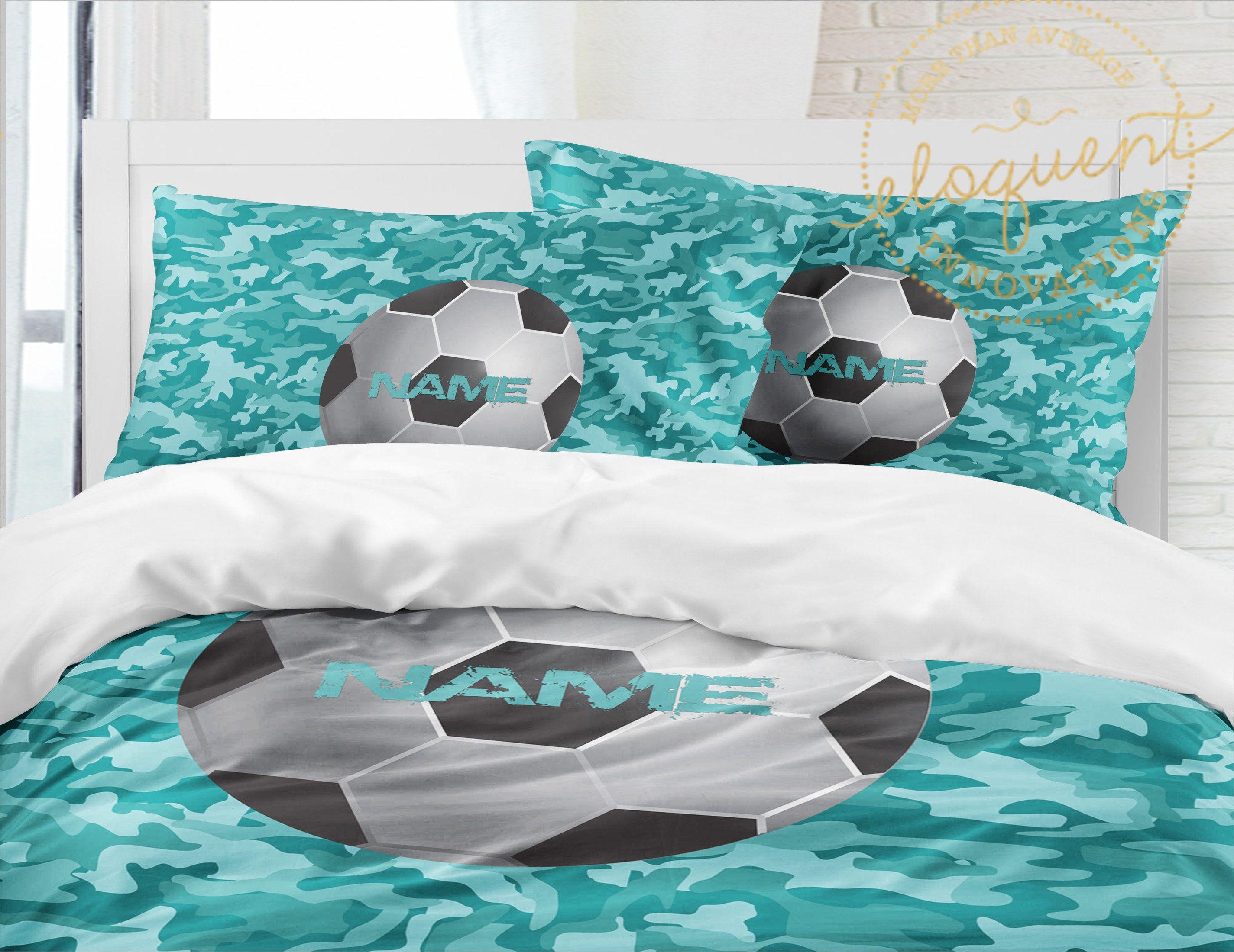 Soccer Bedding For Boys Soccer Comforter Or Duvet Cover Etsy