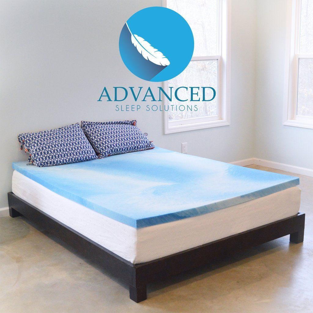 8 Advanced Sleep Solutions Gel Memory Foam Mattress Topper