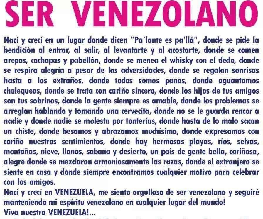 Resultado de imagen para Â¡YO SOY VENEZOLANO!..