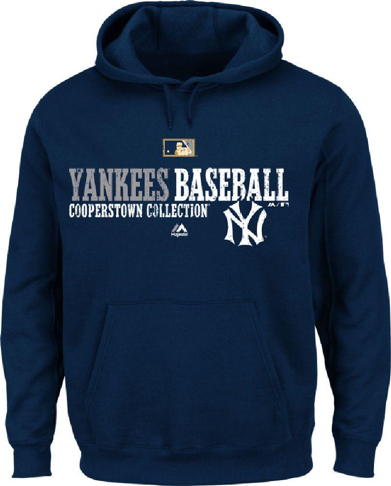 New York Yankees Navy Cooperstown Team Favorite Hoodie Sweatshirt Hoodies New York Yankees Apparel Sweatshirts Hoodie [ 1000 x 805 Pixel ]