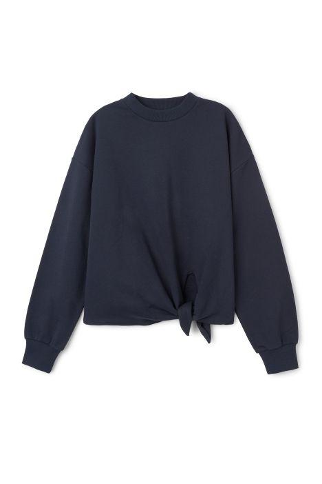 Weekday Tril Knot Sweater in Blue Dark