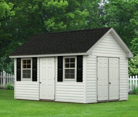 10x12 Cape Cod Style Shed With Vinyl Siding Amish Sheds Shed Sheds For Sale