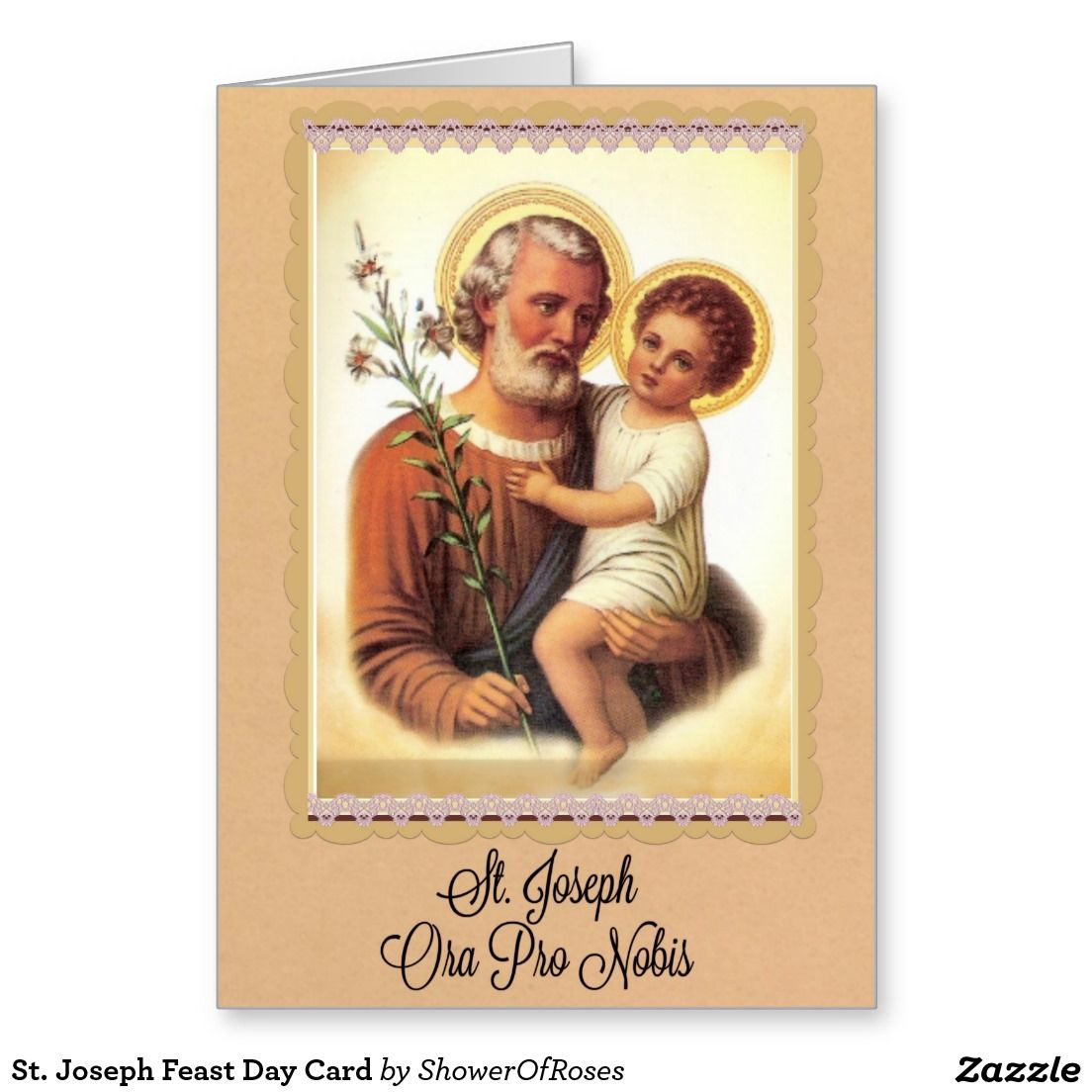 St joseph feast day card greeting cards pinterest joseph with jesus post card feast day mar created by showerofroses kristyandbryce Choice Image