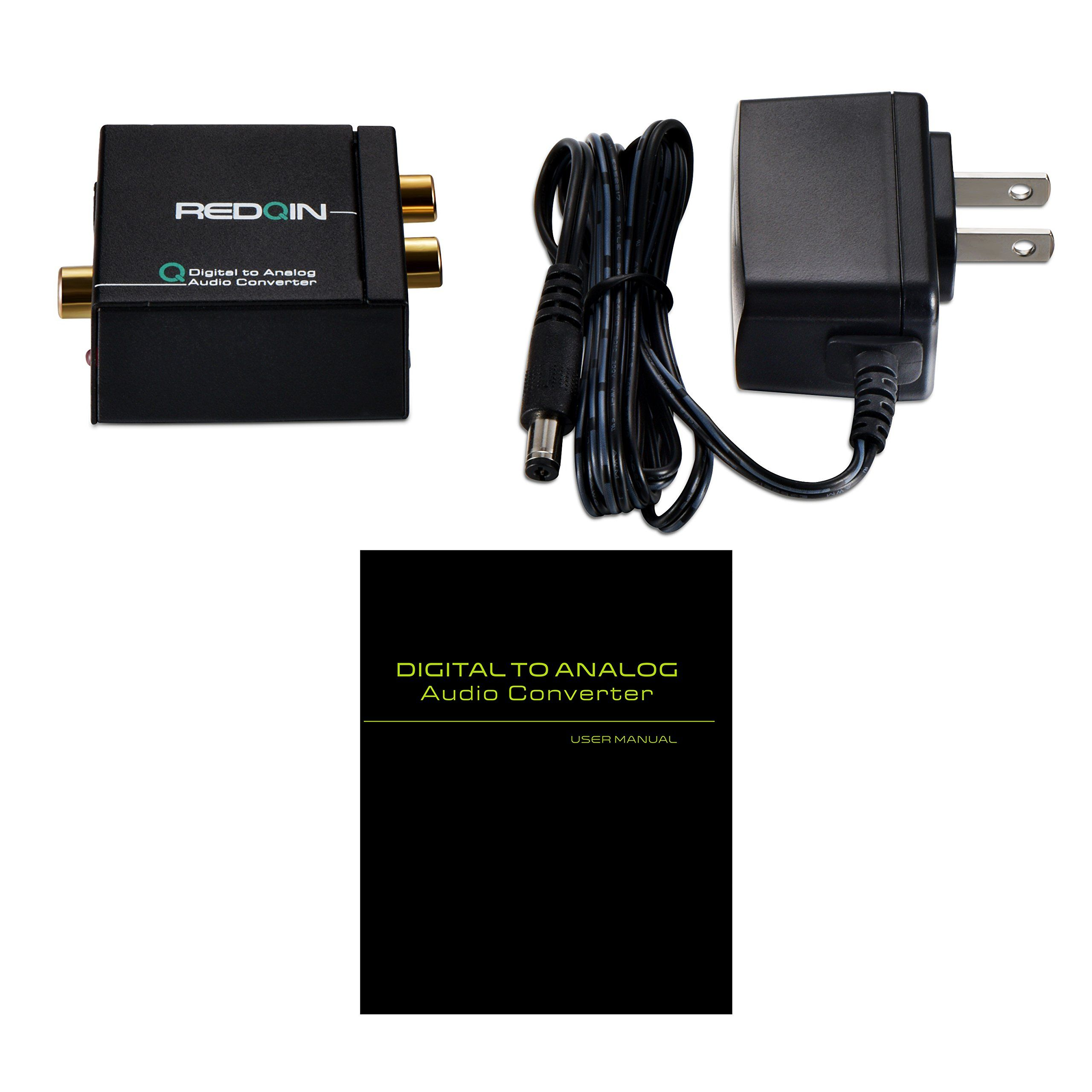 Digital To Analog Rca Audio Converter Redqin Optical Coaxial Toslink L R