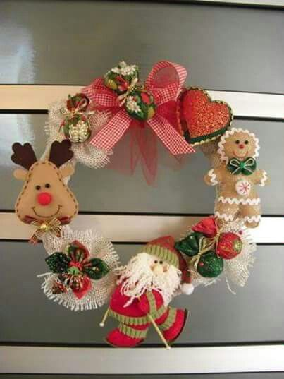 Corona navide a mu ecos navide os pinterest navidad for Navidad adornos manualidades navidenas