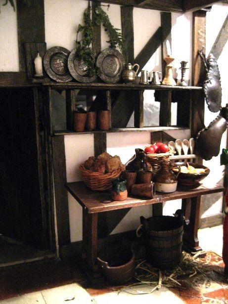 Tudor dollhouse kitchen