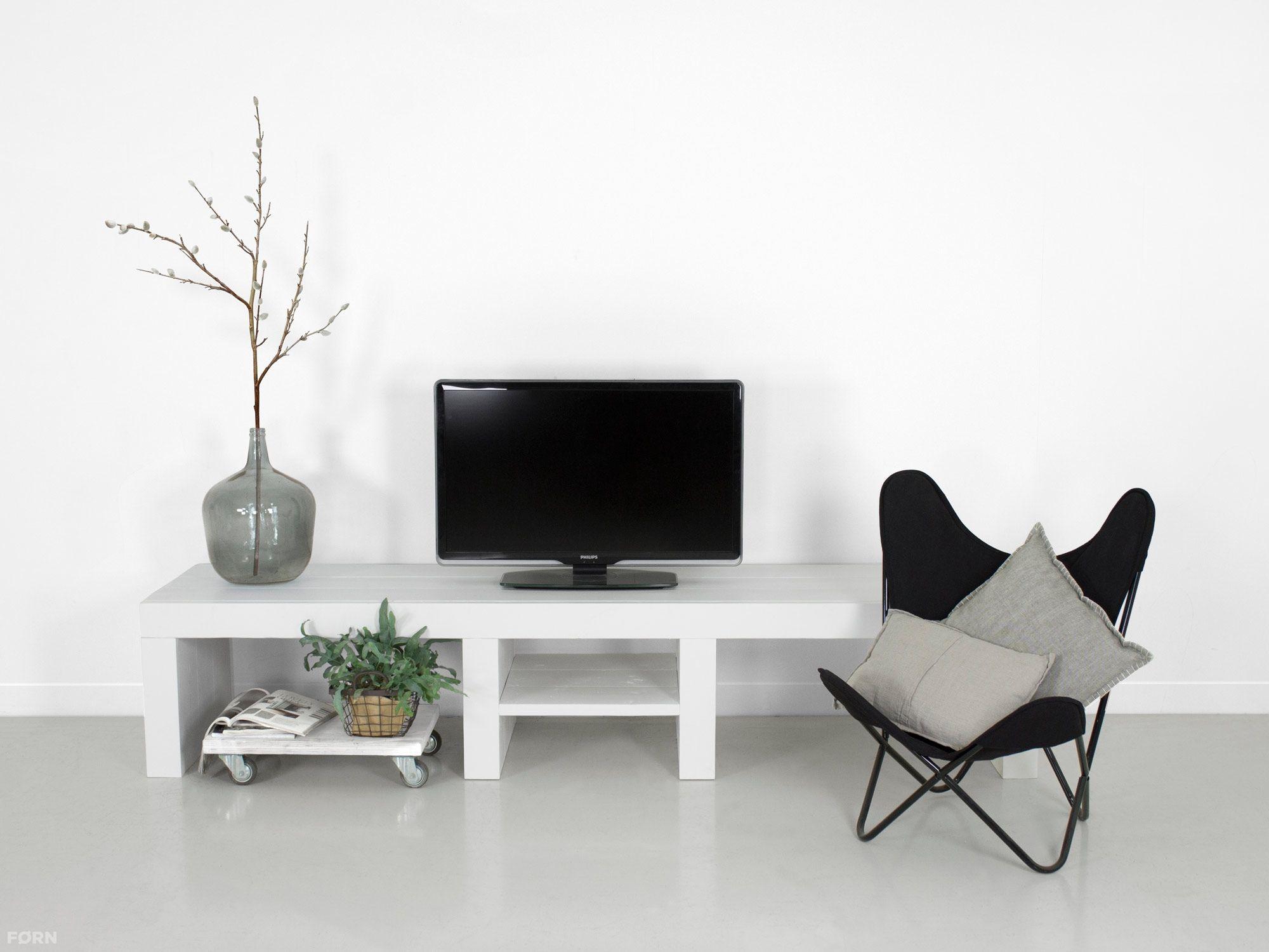 weißes tv lowboard joris - bauholzmoebeldesign.de küche, Wohnzimmer dekoo