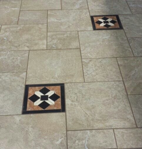 This Is The Grandeur Elegant Amber In The 18x18 And 12x12 Set In A Pinwheel Pattern Elegant Tiles Patterned Floor Tiles Tile Patterns