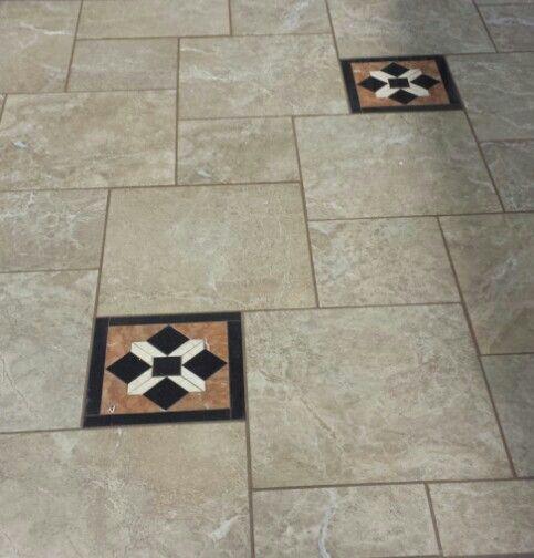 This Is The Grandeur Elegant Amber In The 18x18 And 12x12 Set In A Pinwheel Pattern Elegant Tiles Patterned Floor Tiles Tile Patterns