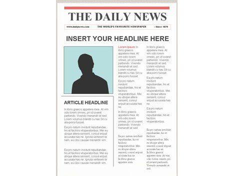 Editable Newspaper Template Portrait
