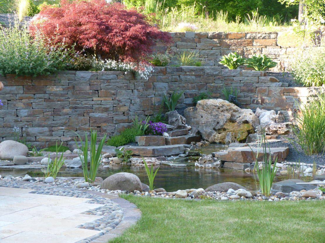 gartenteich mit quellstein : schwimmbecken und teiche von gärten, Gartengerate ideen
