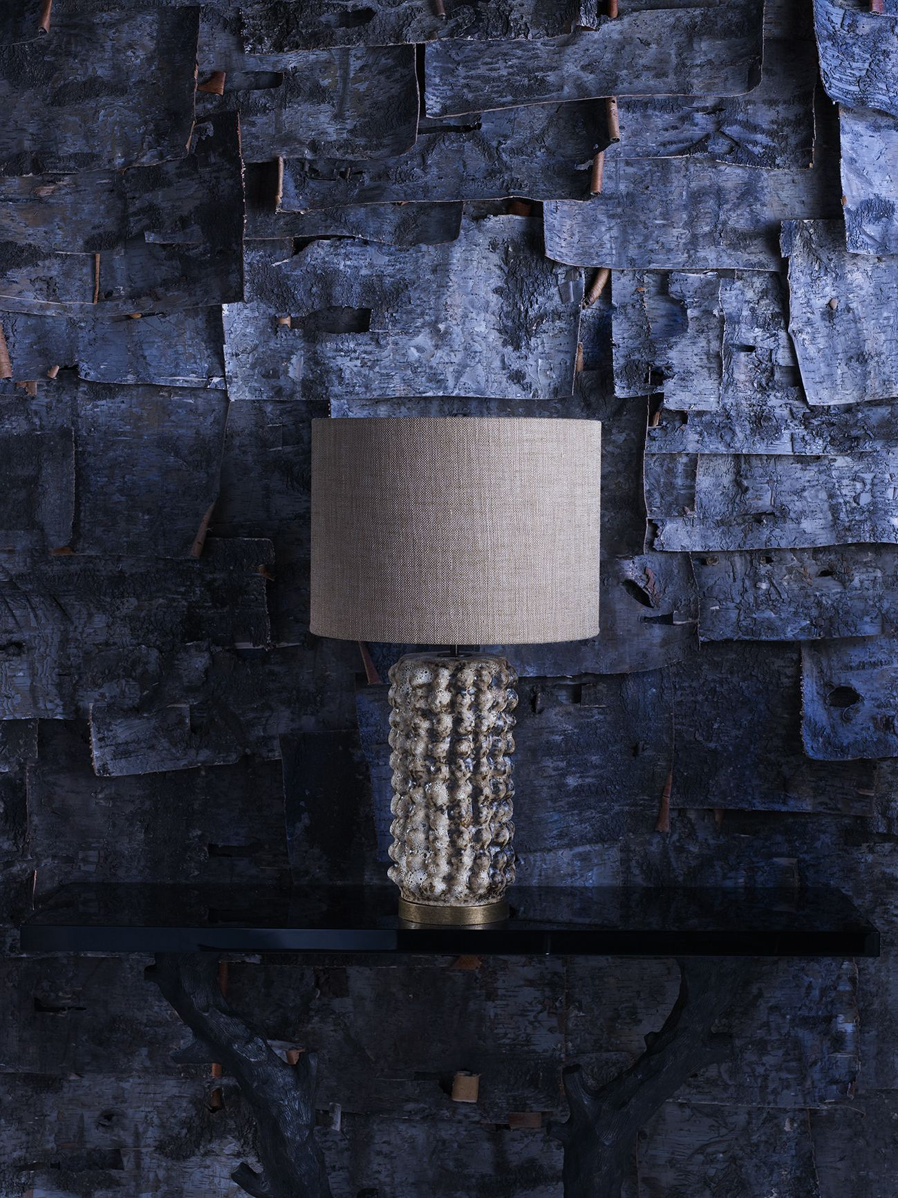 Porta Romana | Image Library | Enchanted Forest. Husk Lamp, Twig Console  Table.