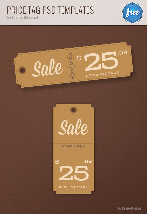 Price Tag Templates Printable Set in PSD Format - Vector Arts Hub