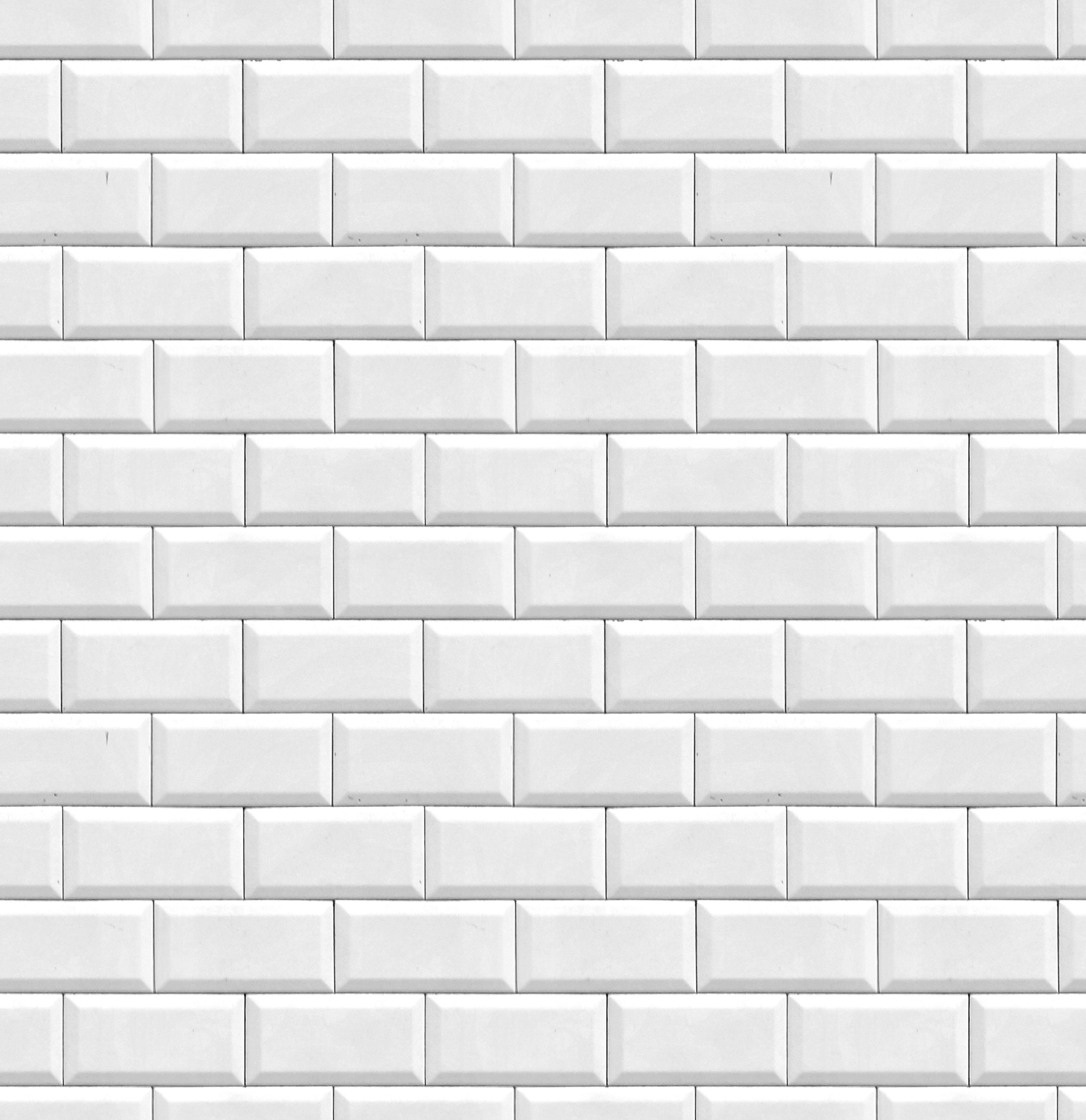 metro tiles brick texture white tile