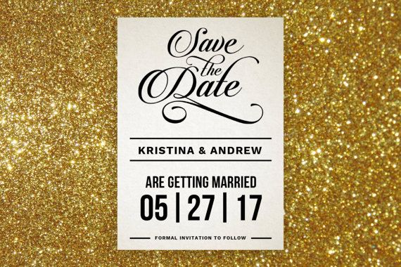 Modern Fancy Calligraphy Save the Date Editable by YestothePress - Formal Invitation Letters