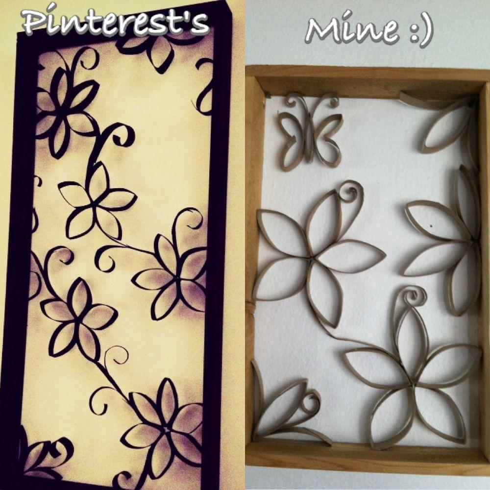 Toilet paper roll art attempt | My Pinterest attempts :) | Pinterest ...