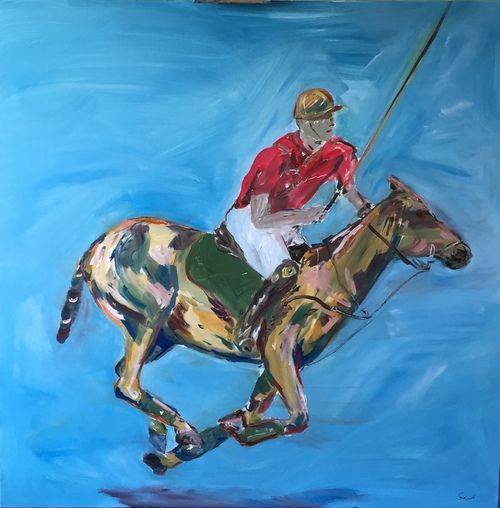 Galloping Polo  Pony original for sale