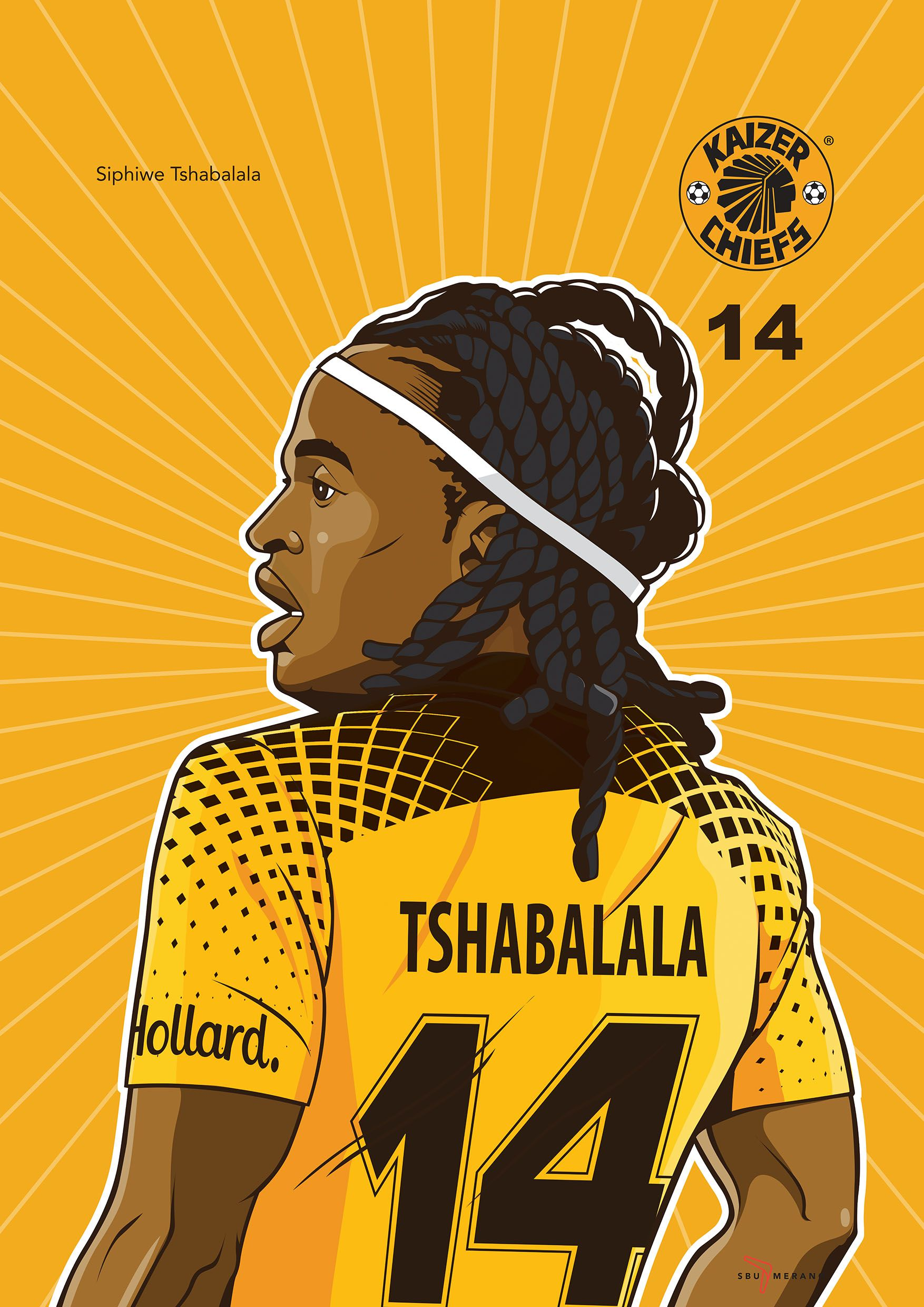 Iwisa Kaizer Chiefs Players Poster Collection Siphiwe Tshabalala ... a6931eda8