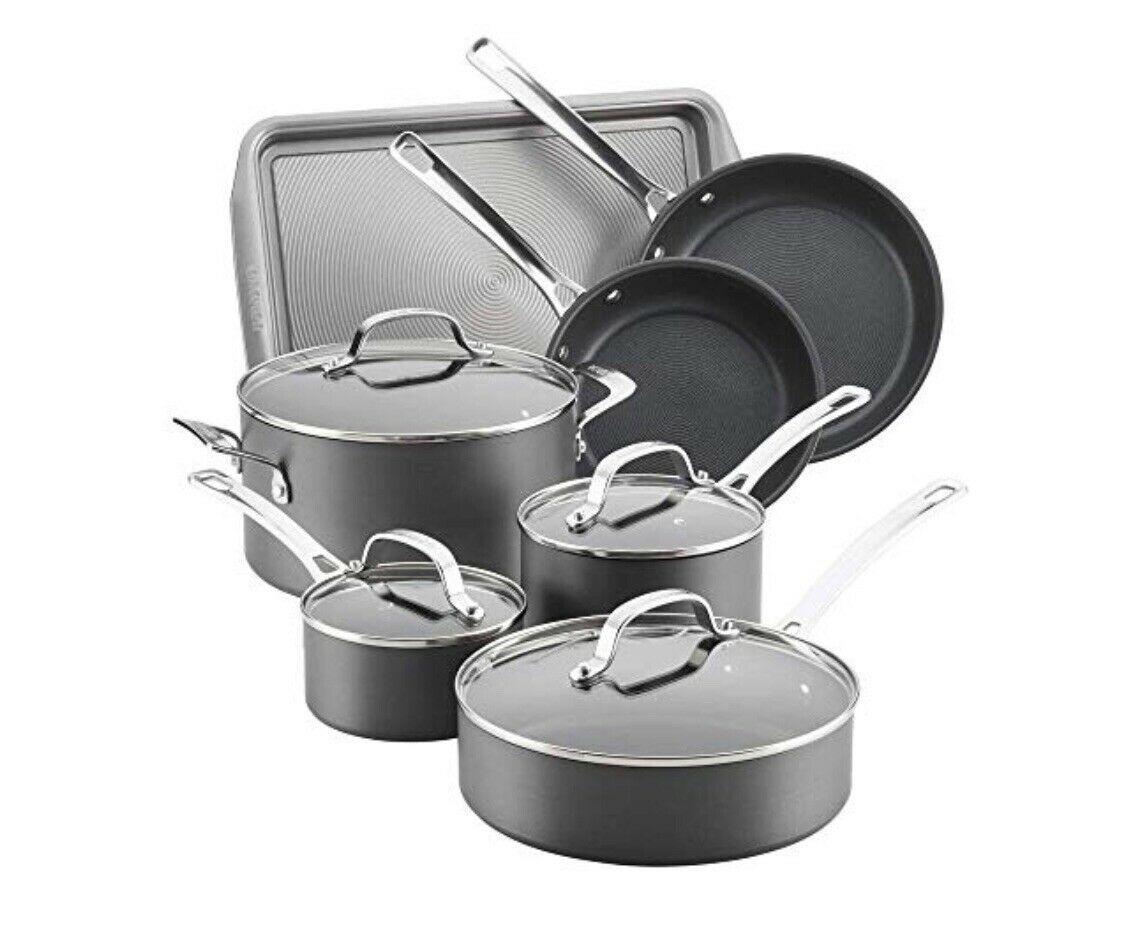 Circulon Genesis Hard Anodized 11 Piece Nonstick Cookware Set 83882 New Cookware Sets Ideas Of Coo Cookware Set Cookware Sets Cookware Set Stainless Steel