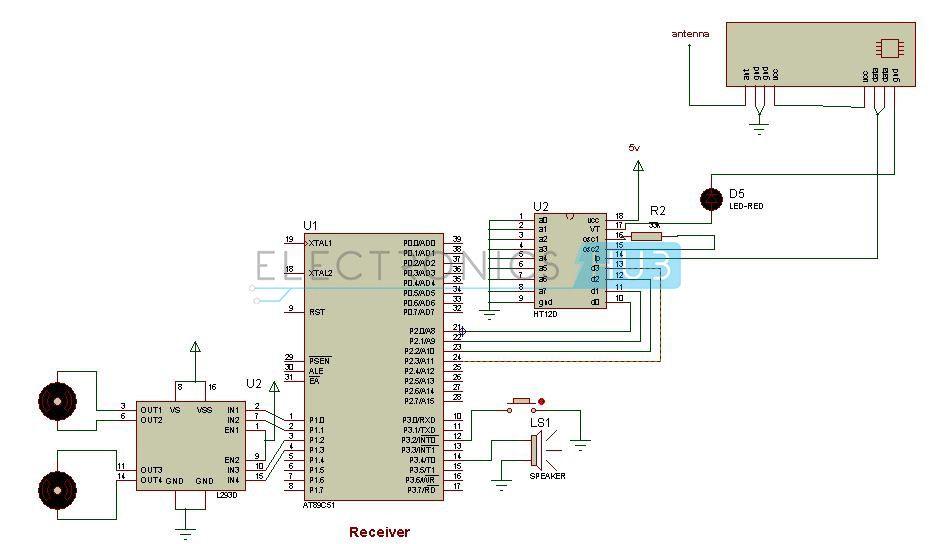 Rf Based Metal Detector Robotic Vehicle Circuit Using 8051 Metal