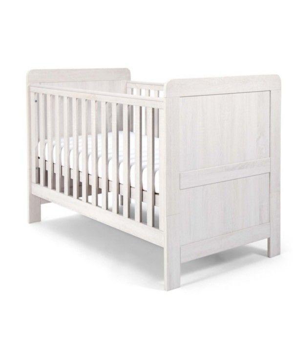 Atlas Convertible Cot Toddler Bed 3 In 1 Nimbus White Wood