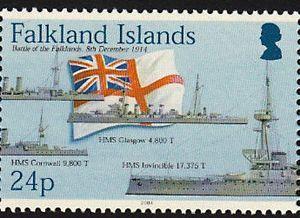 Battle of Falklands Ships