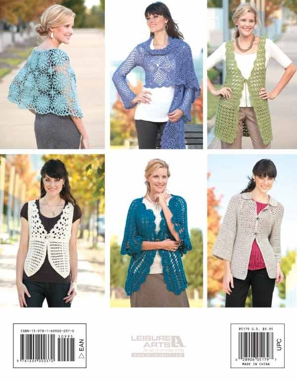 Unforgettable Crochet - Unforgettable Crochet by designer Lisa Gentry (Leisure Arts #5179) is  a collection of six beautiful boutique-style fashions. The vest and sweater patterns are sized from X-Small to 2X-Large. Projects range from an ultra-feminine wrap of delicate motifs to a fun-loving retro vest.  A little skill, some lovely yarn, and a crochet hook are all it takes  to make these ultra-stylish designs! Garments include: Bracelet Length Cardi, 3-Way Wrap, Lacy Cardi, Scallop-Edge…