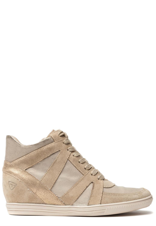 Verzendingamp; Gratis Retour Sneaker Tamaris BeigeOnline Kopen 80OnwPk