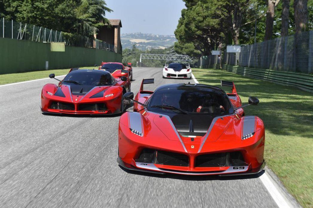 Four Ferrari FXX Ks Tear Up The Imola Circuit At Once