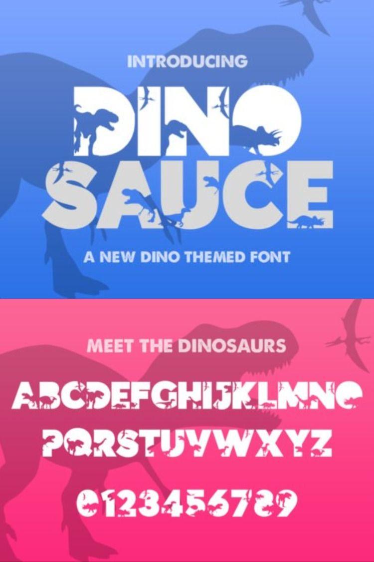Dinosauce Sans Serif Font #prehistoriccreatures