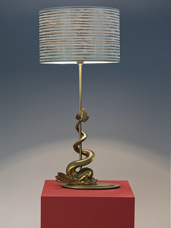 Hollywood Regency Bronze Dolphin Table Lamp Lamp Table Lamp Bronze Table Lamp