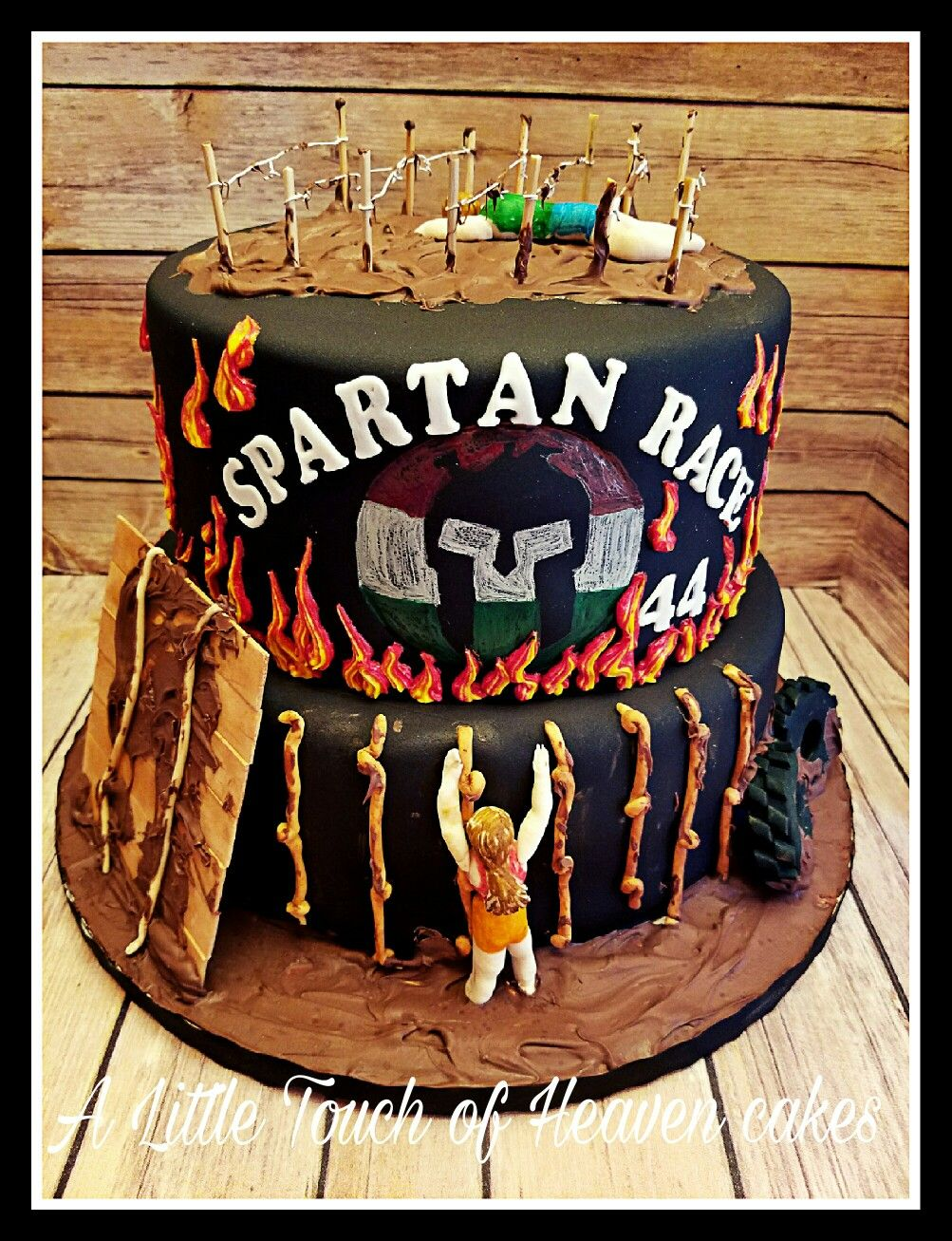 Spartan race birthday cake My Cake Creations A Little Touch