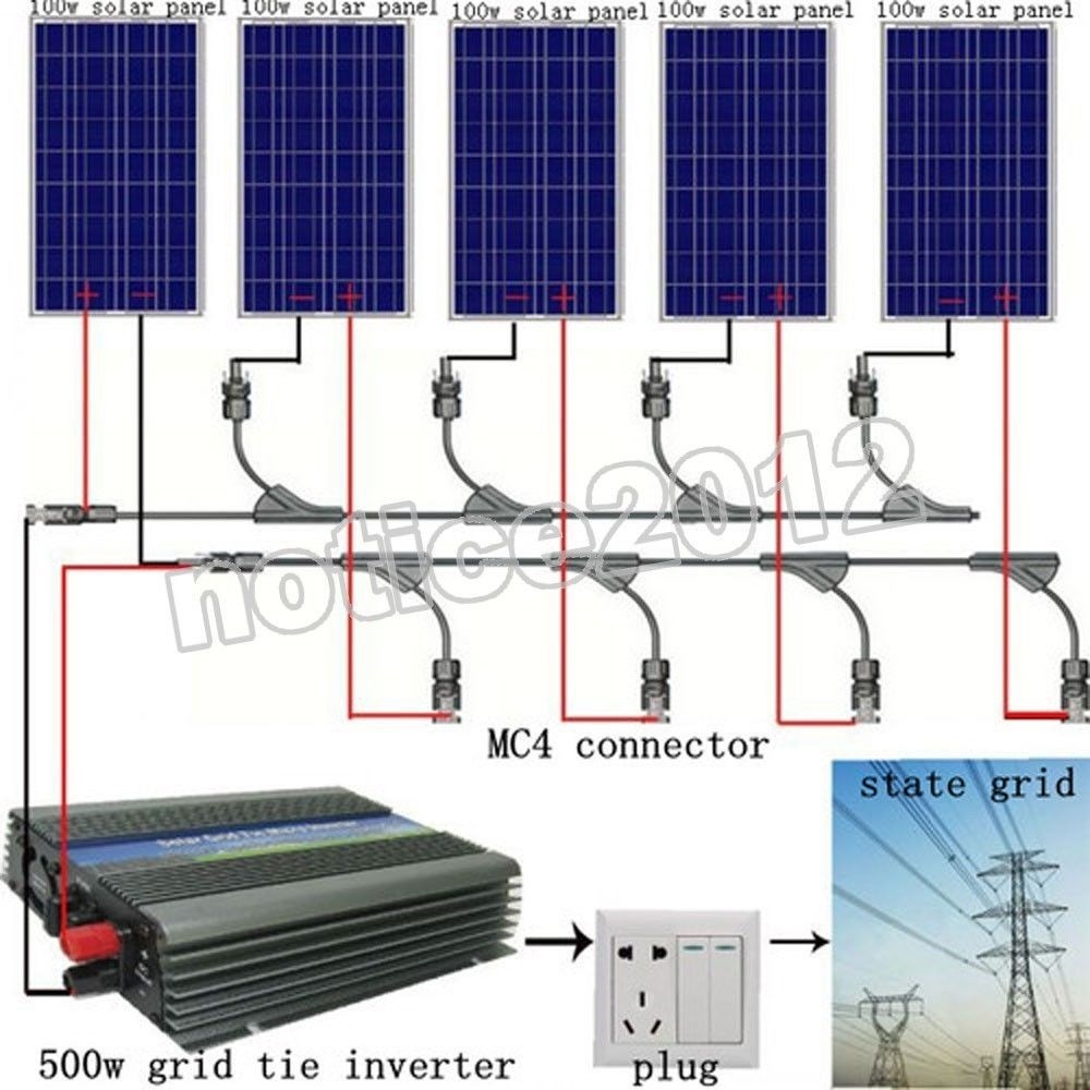 500w Solar Inverter Grid Tie Wiring Diagram Trusted Diagrams Electrical Wire Symbol Lighting