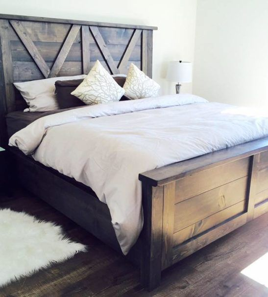 Barn Door Farmhouse Bed Pine Main Pinterest Barn