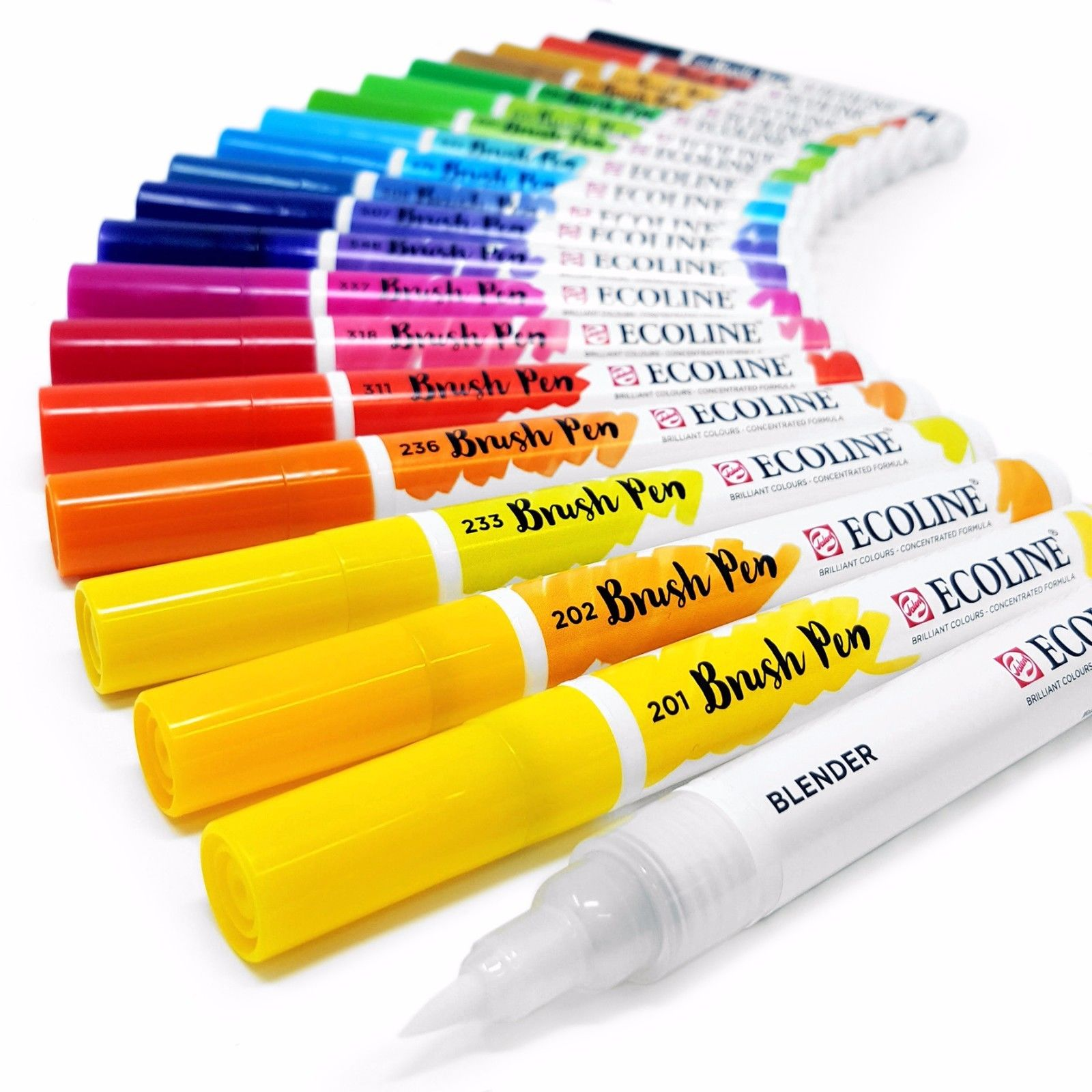 Featured Here Are Color Swatches For Ecoline S Liquid Watercolor