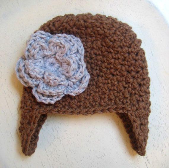 Crochet PATTERN - Crochet Hat Pattern - Earflap Hat ...