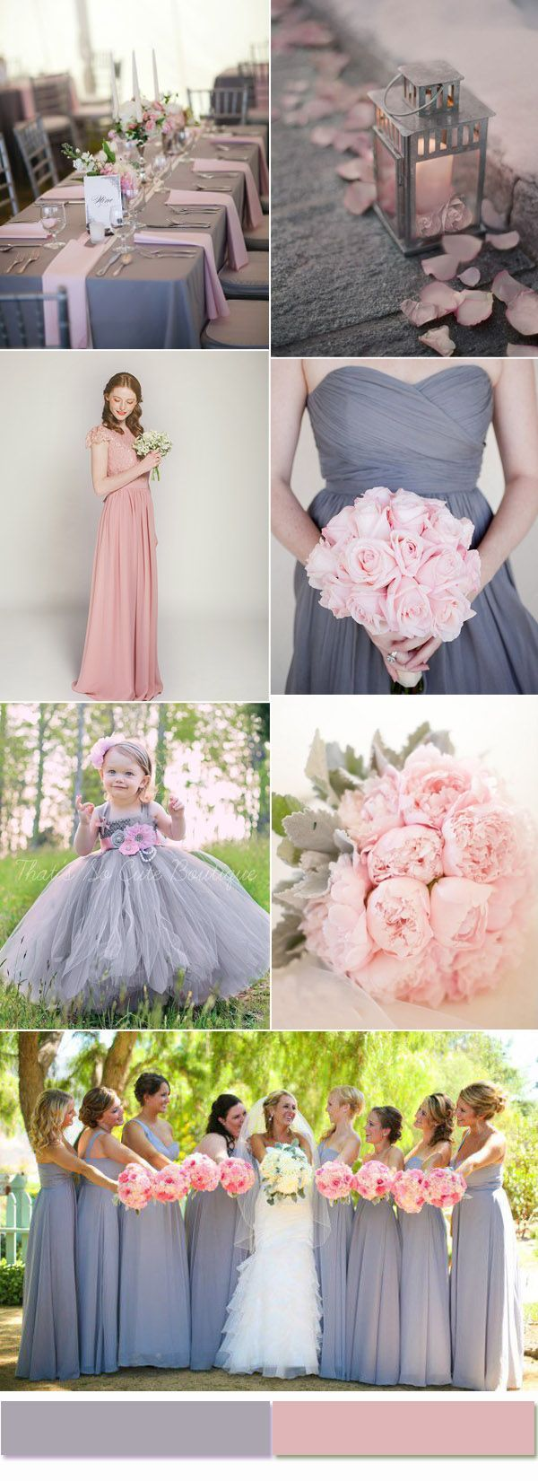 2017 Most Trendy And Hot Color Combinations Based On The Wedding Report Blush Grey Weddingpink
