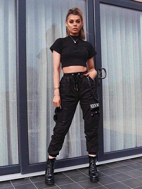 Photo of ROCK MORE CARGO PANTS – Black / L