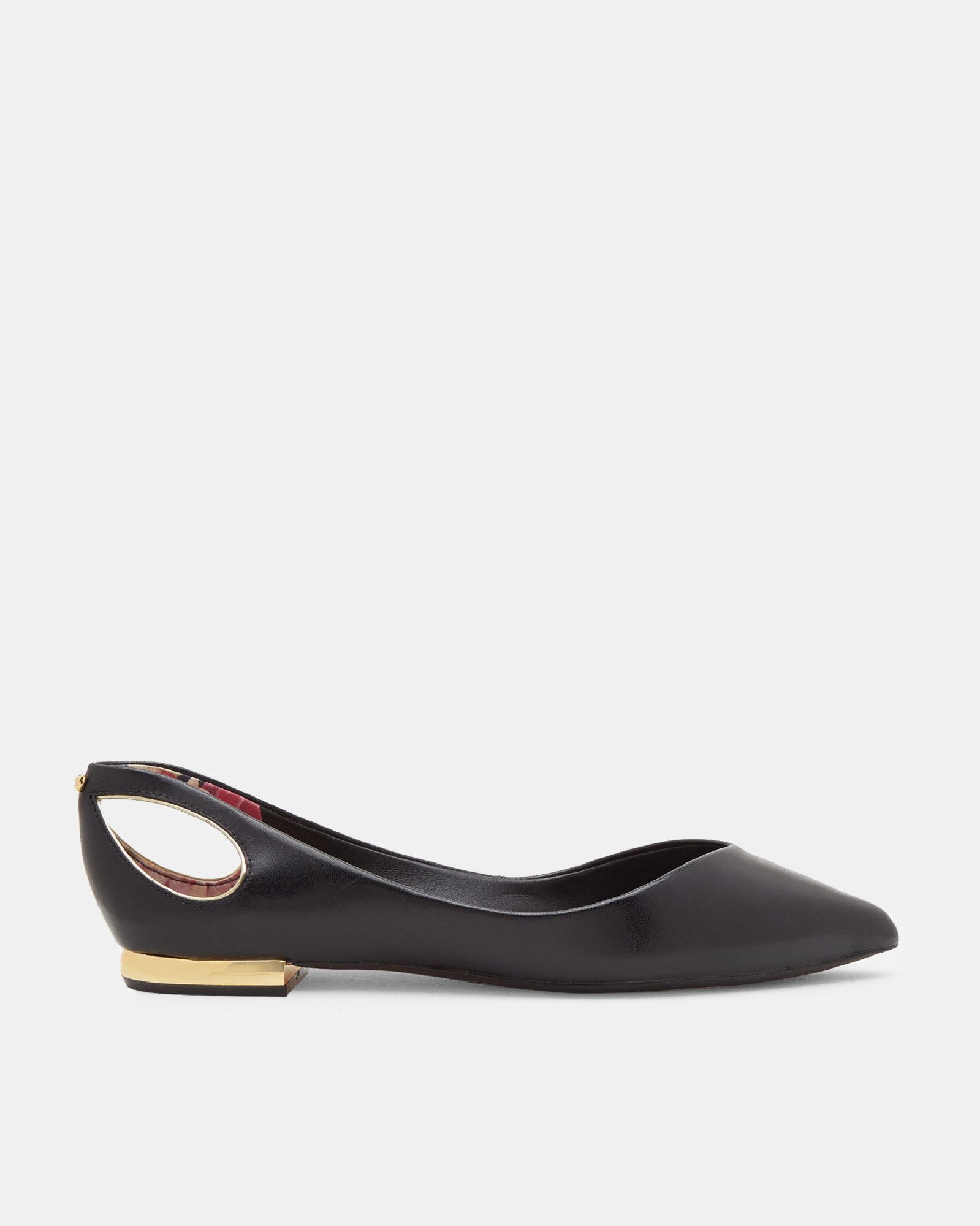 5e092b8b3 Ted Baker Cut-out pointed flats Black