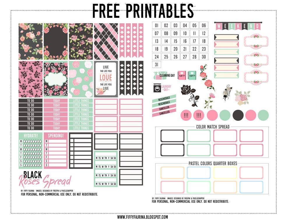 Be Free: Free Printable: Happy Planner 001 | Planner ideas ...