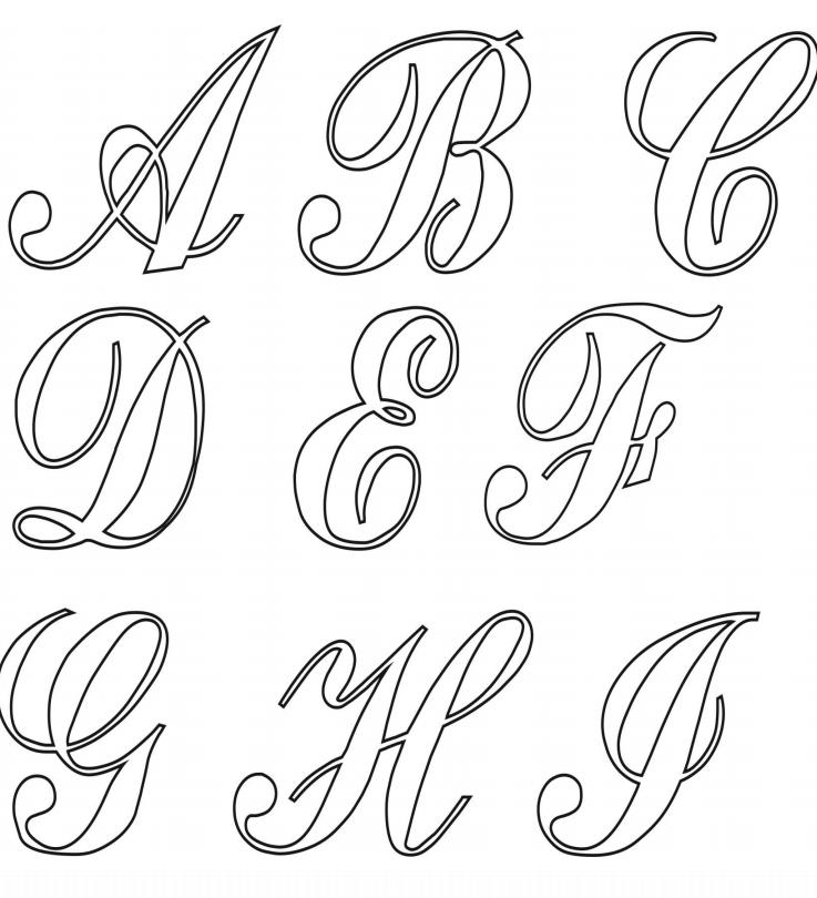 Letra Cursiva Para Imprimir Moldes Grátis Do Alfabeto Moldes De Letras Cursiva Moldes Letras Para Imprimir Moldes De Letras Abecedario