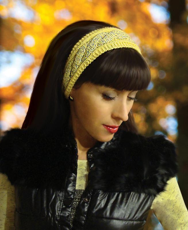 стильная вязаная повязка на голову Charming Lady за 350 грн