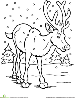 color the reindeer coloring sheets christmas coloring pages christmas worksheets preschool. Black Bedroom Furniture Sets. Home Design Ideas
