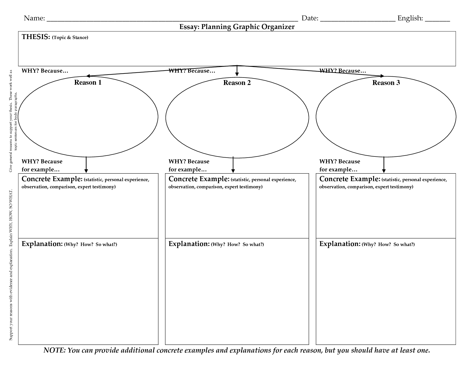 College research paper graphic organizer