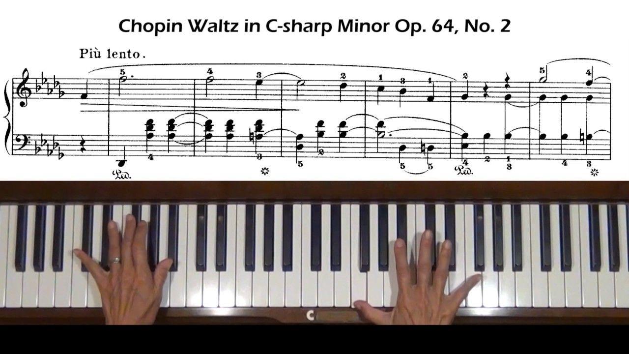 Chopin Waltz In C Sharp Minor Op 64 No 2 Piano Tutorial With Score