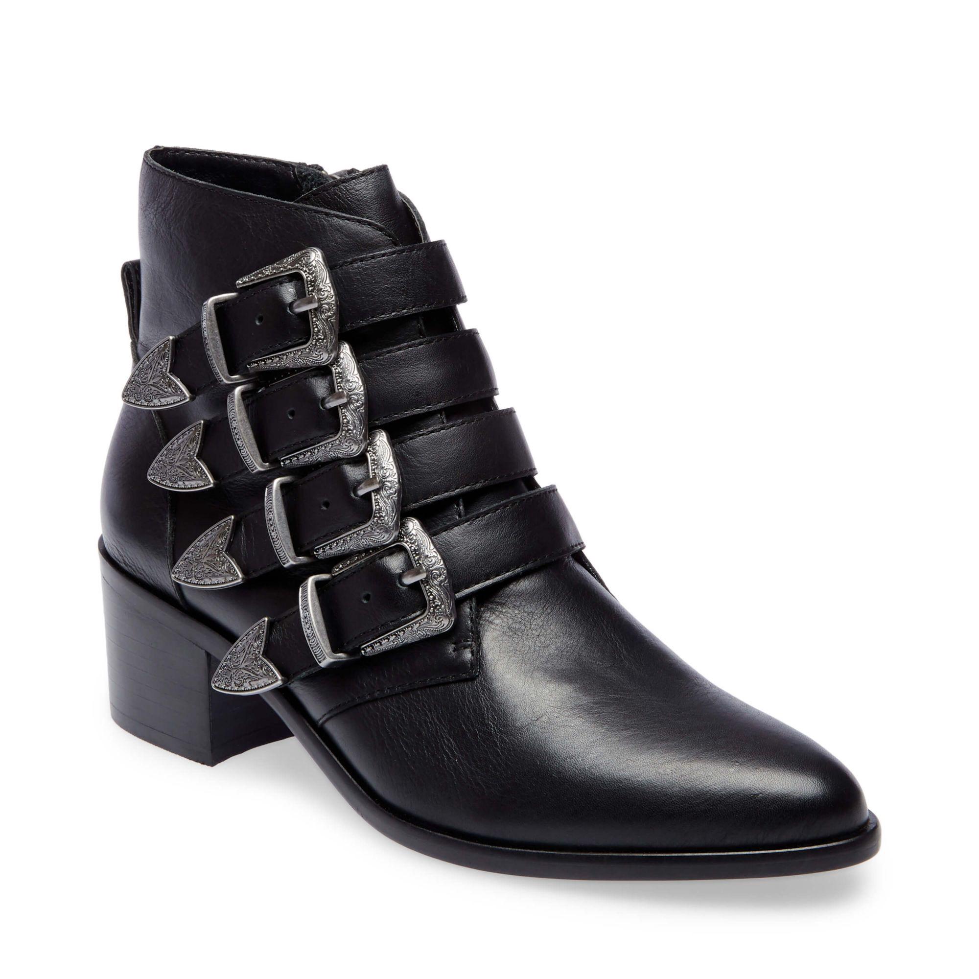 9cf1bd65151 Steve Madden Billey - Black Leather 10.0
