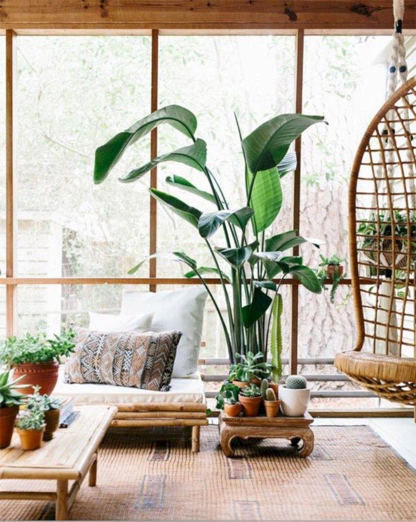 40 Stunning Indoor Plants Ideas Living Room Bedroom Http Seragidecor Com 40 Stunning Indoor Plants Ideas Living R Bohemian Interior Design Decor Plant Decor